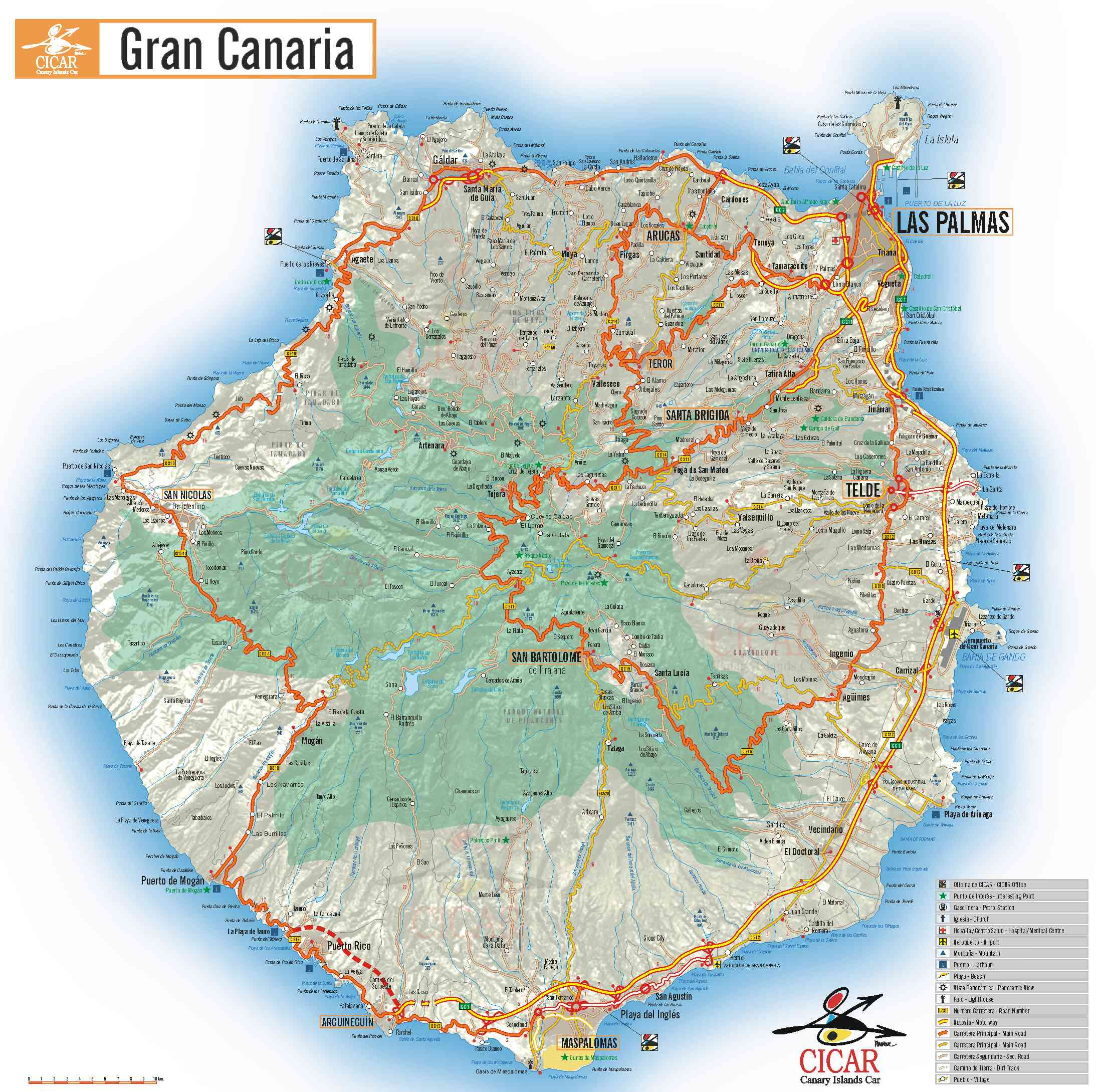 karte von gran canaria Karte Gran Canaria   Grosse detaillierte Karte Gran Canaria karte von gran canaria